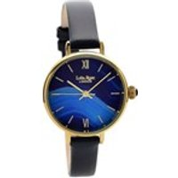 lola rose lr2036 agate sapphire blue leather strap watch  w0312