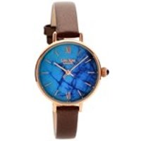 lola rose lr2040 magnesite brown leather strap watch  w0314