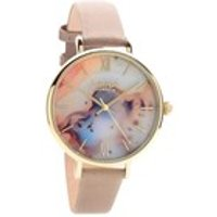 lola rose lr2028 agate dark grey leather strap watch  w0326