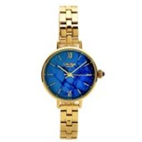 lola rose lr4010 blue magnesite gold plated bracelet watch  w0330