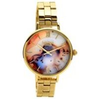 lola rose lr4004 agate gold plated bracelet watch  w0339