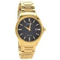 Citizen AU1052-50E Gold Plated Eco-Drive Bracelet Watch - W38104