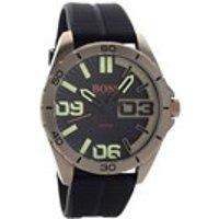 hugo boss orange 1513287 berlin ionic finish black resin strap watch  w45120