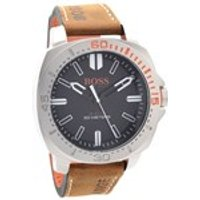 hugo boss orange 1513294 sao paulo stainless steel brown leather strap watch  w4556