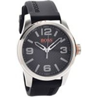 hugo boss orange 1513350 stainless steel black resin strap watch  w4558