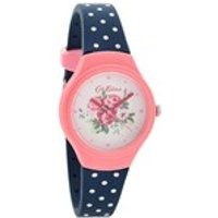 cath kidston ckl024pu spray flowers polka dot resin strap watch  w56103