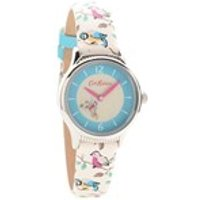 cath kidston ckl011us rotating little birds leather strap watch  w5664