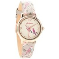 cath kidston ckl013erg british birds grey leather strap watch  w5672