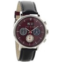 ted baker te10024798 chronograph black leather strap watch  w82100