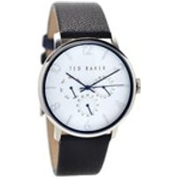ted baker te10023491 stainless steel black leather strap watch  w8259