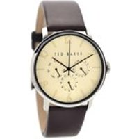 ted baker te10023493 stainless steel brown leather strap watch  w8260
