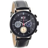 ted baker ite10023471 black ionic plated chronograph black leather strap watch  w8290