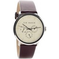 ted baker te10029568 multi dial burgundy strap watch  w8295