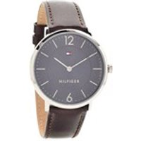 tommy hilfiger 1710352 james stainless steel brown leather strap watch  w9570
