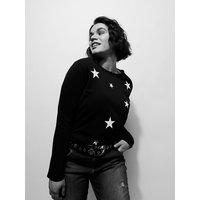 Fiorella Rubino T-shirt con stelle Donna Nero