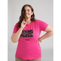 Fiorella Rubino T-shirt con scritta e stampa Donna Rosa