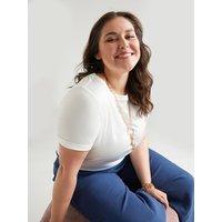 Fiorella Rubino T-shirt in due tessuti Donna Bianco