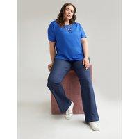 Fiorella Rubino Jeans flare push up Turchese Donna Blu