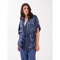 Fiorella Rubino Giacca a kimono con cintura Donna Blu