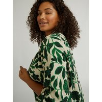 Fiorella Rubino Camicia floreale nei toni verdi Donna Verde