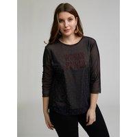 Fiorella Rubino T-shirt doppiata in tulle Donna Nero