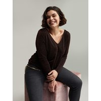Fiorella Rubino T-shirt lurex Donna Marrone