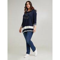Fiorella Rubino Jeans regular push up Smeraldo Donna Blu