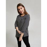 Fiorella Rubino T-shirt con mix di righe Donna Nero