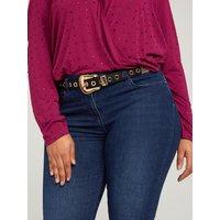 Fiorella Rubino Cintura con fibbia e occhielli Donna Nero