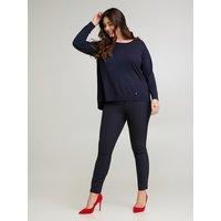 Fiorella Rubino Pantaloni skinny con zip davanti Donna Blu