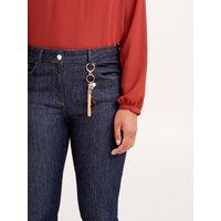Fiorella Rubino Jeans skinny con charms Donna Blu