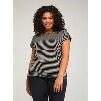 Fiorella Rubino T-shirt a righe lurex Donna Nero
