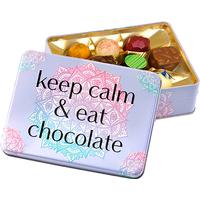 Präsentdose keep calm and eat chocolate