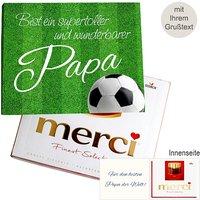 Persönliche Grußkarte mit Merci: Wunderbarster Papa (250g)