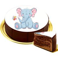 Motiv-Torte Elefant