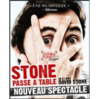 Affiche Spectacle de magie  STONE PASSE A TABLE © Fnac Spectacles