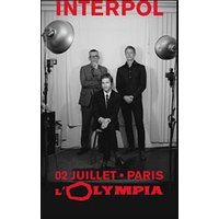 Affiche Rock  INTERPOL © Fnac Spectacles