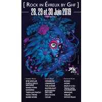 Affiche Rap/Hip-hop/Slam  ROCK IN EVREUX BY GHF 2019 -PASS 1J © Fnac Spectacles