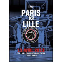 Affiche Basketball  PARIS BASKETBALL - LILLE © Fnac Spectacles