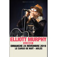 Affiche Blues/Country  ELLIOTT MURPHY (DUO) © Fnac Spectacles