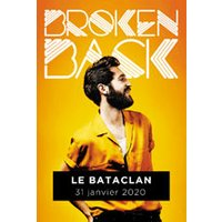 Affiche Pop-rock / Folk  BROKEN BACK © Fnac Spectacles