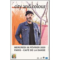 Affiche Pop-rock / Folk  CITY AND COLOUR © Fnac Spectacles