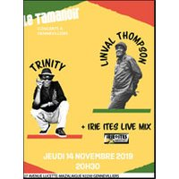Affiche Reggae  LINVAL THOMPSON & TRINITY © Fnac Spectacles