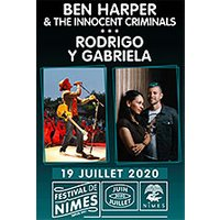 Affiche Pop-rock / Folk  BEN HARPER & THE INNOCENT CRIMINALS © Fnac Spectacles