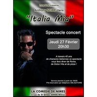 Affiche Variété internationale  ITALIA MIA © Fnac Spectacles