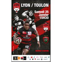 Affiche Rugby  LOU / RC TOULON © Fnac Spectacles