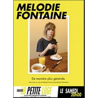 Affiche Humoristes  MELODIE FONTAINE © Fnac Spectacles