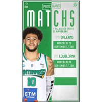 Affiche Basketball  NANTERRE 92 / JL BOURG © Fnac Spectacles