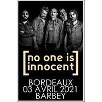Affiche Rock  NO ONE IS INNOCENT © Fnac Spectacles