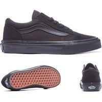 'Vans Old Skool Black Leather Infant Trainer